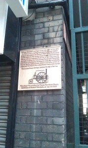 Leather Lane self-erected plaque